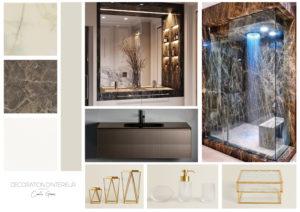 Coaching_decoration_Montpellier_Planche d'ambiance_salle-de-bain_luxe_marbre