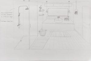 Coaching_decoration_maison_Nimes_Croquis_Salle d'eau